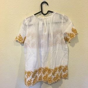 LOFT Tops - NWT LOFT floral embroidered short sleeve blouse